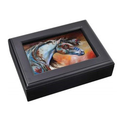 Westland - Native American Warrior Horse Music Box Photo Frame with Black Edges - This gorgeous Native American Warrior Horse Music Box Photo Frame with Black Edges has the finest details and highest quality you will find anywhere! Native American Warrior Horse Music Box Photo Frame with Black Edges is truly remarkable.