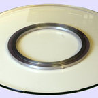 Chintaly Imports - 24 Round Glass Spinning Tray - 24 round glass spinning tray. Great addition to any counter top or table.