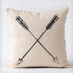 Black Arrows Organic Cotton Pillow - I love the idea of a cozy pillow sitting on an entryway bench. And I especially love this one!