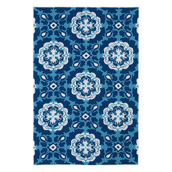 "Kaleen - Kaleen Matira MAT12 (Blue) 5' x 7'6"" Rug - Matira is inspired from the absolutely beautiful and breathtaking secluded beaches of Bora Bora. White powdery sand, crystal clear blue waters, and the lush botanical surroundings embrace every aspect of this collection. Each rug is UV protected and handmade with 100% Polypropylene. Complete with our special ""K-Stop Non-Skid Backing"", Matira will be your perfect anchor to a magical getaway."