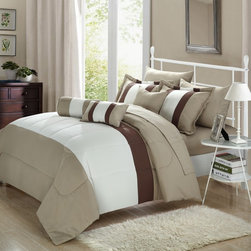 Chic Home Serenity 10-piece Comforter Set with Sheets -