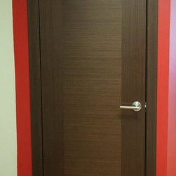 Classica Lux Modern Interior Door Wenge Finish - * Price listed includes door slab,adjusted ...