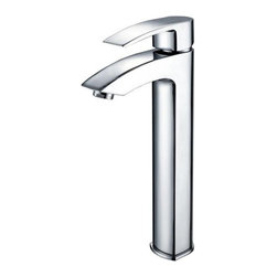 Kraus - Visio Bathroom Vessel Sink Faucet Chrome - Add a touch of elegance to your bathroom with stainless steel vessel sink faucet from Kraus