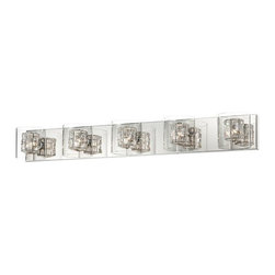 Wrapped Wire Possini Euro Five Light Bathroom Fixture -
