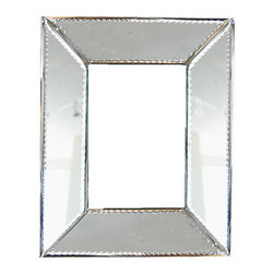 "BrandWave - Glass Picture Frame, Silver, 8""x10"" - The natural irregularity of the hand-beveled mirror catches light in all different times of day. Surround your photographs with this eye-catching work of art."