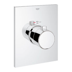 Grohe - Grohe 27620-000 Thermostatic Trim With Temperature Control Module - This Thermostatic Trim With Temperature Control Module (27620) Has Been Specifically Made For High-Flow, Multiple-Outlet Custom Shower Applications, And Requires Separate Volume Controls. It Comes With Grohe'S Turbostat Technology, And Is Compatible With The GrohFlexUniversal Rough-in Box (35026)(Sold Separately). It Has A Temperature Control Safety Stop At 100-Degrees, And A Flow Rate Of 12 Gpm At 45 Psi. This Model Comes In A Bright, Starlight Chrome Finish.