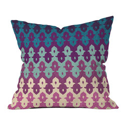 DENY Designs - Arcturus Marakesh Outdoor Throw Pillow - Do you hear that noise? it's your outdoor area begging for a facelift and what better way to turn up the chic than with our outdoor throw pillow collection? Made from water and mildew proof woven polyester, our indoor/outdoor throw pillow is the perfect way to add some vibrance and character to your boring outdoor furniture while giving the rain a run for its money. Custom printed in the USA for every order.