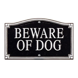 Whitehall Beware of Dog Statement Wall/Lawn Plaque - About WhitehallWhitehall is the world's largest manufacturer of weathervanes, but the business points a lot more ways than east, west, north, and south. Inspired by traditional handcrafted designs and quality, Whitehall also makes gorgeous mailboxes, address plaques, and outdoor accents. They're based in western Michigan, building American tradition and quality into every product they make.