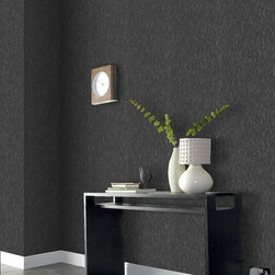 Graham & Brown - Heston Wallpaper - The simple stratum effect used on this design creates a stunning vertical texture. Each layer gently builds on the last to create a subtle three dimensional effect. Silver glitter adds a flair to this design.