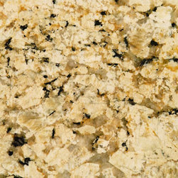 Spring Cream Granite Slab - A rich granite which would work well in a traditional kitchen.