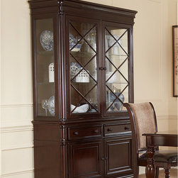 None - Liberty Plantation Cherry Buffet and Hutch - The Plantation cherry buffet and hutch speaks of country elegance. A rich cognac finish is hand-rubbed with wax to add depth and complexity.