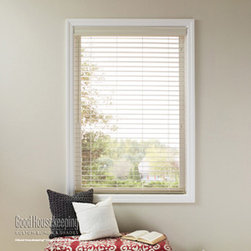 Good Housekeeping - Good Housekeeping 2-inch Polymer Blinds: Whites - When you want the versatility of a horizontal blind, but need durability and water resistance, try Good Housekeeping Faux Wood blinds for the perfect solution in high traffic or high humidity areas.