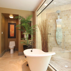 Contemporary Bathroom by Masterplan Residential Drafting and Design