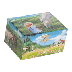 Mele Jewelry - Mele and Co. Apple Girl's Musical Horse Jewelry Box - Mele Jewelry - Jewelry Boxes - 00713F13B