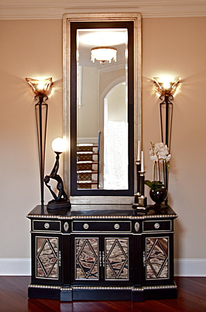 Eclectic Entry by Adam Zollinger Interiors