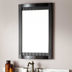 """24"""" Palmetto Vanity Mirror - Bring cottage appeal to your bathroom decor with the Palmetto Mirror. Perfect for accompanying a Palmetto collection vanity, this mirror features a decorative beadboard frame that gracefully curves outward, for beautiful effect."""