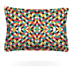 """Kess InHouse - Danny Ivan """"Retro Grade"""" Pillow Sham (Cotton, 30"""" x 20"""") - Pairing your already chic duvet cover with playful pillow shams is the perfect way to tie your bedroom together. There are endless possibilities to feed your artistic palette with these imaginative pillow shams. It will looks so elegant you won't want ruin the masterpiece you have created when you go to bed. Not only are these pillow shams nice to look at they are also made from a high quality cotton blend. They are so soft that they will elevate your sleep up to level that is beyond Cloud 9. We always print our goods with the highest quality printing process in order to maintain the integrity of the art that you are adeptly displaying. This means that you won't have to worry about your art fading or your sham loosing it's freshness."""