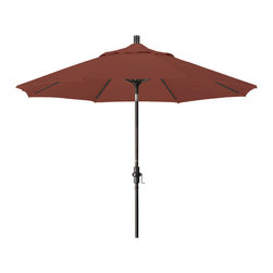 California Umbrella - 9 Foot Sunbrella Aluminum Crank Lift Collar Tilt Market Umbrella, Bronze Pole - California Umbrella, Inc. has been producing high quality patio umbrellas and frames for over 50-years. The California Umbrella trademark is immediately recognized for its standard in engineering and innovation among all brands in the United States. As a leader in the industry, they strive to provide you with products and service that will satisfy even the most demanding consumers.