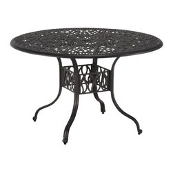 Home Styles - Home Styles Floral Blossom Round Dining Table in Charcoal-48 Inch - Home Styles - Dining Tables - 555832 - By combining outdoor elements such as ceremonial and abstract floral designs the Floral Blossom Round Dining Table by Home Style is brought to life.