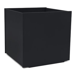 Loll Designs - Square Planter 60 Gallon, Black - The Loll Flora Collection was created to work in a variety of outdoor garden settings. The recycled and recyclable poly material is made to withstand the test of time and extreme weather. In addition, the joinery on our modern containers allow for a slow, seeping drainage and holes can easily be drilled in the bottom if desired. All pieces are flat-packed with simple, fun, and intuitive assembly.