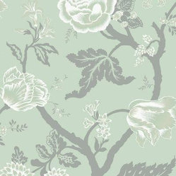 Sea Breeze Large Floral Trail Wallpaper