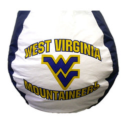 """Bean Bag Boys - West Virginia Mountaineers Bean Bag - Chanting the fight song just got more fun from home while relaxing in this cozy bean bag chair that features the West Virginia Mountaineers team logo.  Its vinyl covering is soft and literally holds your seat while you grab another snack. * Durable vinyl constructionBean bag features logo for West Virginia Mountaineers 30"""" X 30"""" 36"""". 112"""" Circumference10 lbs."""