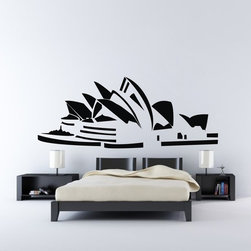 ColorfulHall Co., LTD - Large Sydney Theatre Wall Decoration Construction Wall Decals - You will find hundreds of affordable peel - and - stick wall decal designs, suitable for all kinds of tastes and every room in your house, including a children's movie theme, characters, sports, romantic, and home decor designs from country to urban chic. Different from traditional decals, vinyl wall decals is with low adhesive that allows you to reposition as often as you like without damaging the paint. Application is easy: peel offer the pre-cut elements on the design with a transfer film, and then apply it to your wall. Brighten your walls and add flair to your room is just as easy.