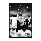 "Amanti Art - 'Audrey Hepburn, Breakfast at Tiffany's' Framed Photo With Gel Coated Finish - If you adore the fabulous Audrey Hepburn, this black and white photograph of her in the 1961 film ""Breakfast at Tiffany's"" will make you smile. Framed and ready for your wall, this poster is perfect for your office or bedroom. Made in the USA."