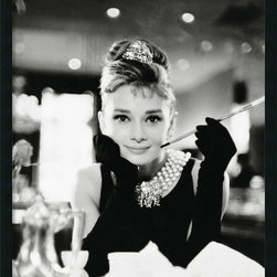 "Amanti Art - ""Audrey Hepburn – 'Breakfast at Tiffany's'"" Framed with Gel Coated Finish - If you adore the fabulous Audrey Hepburn, this black and white photograph of her in the 1961 film ""Breakfast at Tiffany's"" will make you smile. Framed and ready for your wall, this poster is perfect for your office or bedroom. Made in the USA."