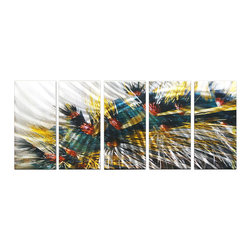Matthew's Art Gallery - Metal Wall Art Abstract Modern Contemporary Sculpture Wall Decor City Lights - Name: City Lights