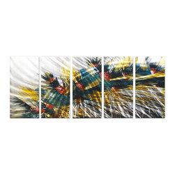 Matthew's Art Gallery - Metal Wall Art Abstract Modern Contemporary Sculpture Wall Decor City Lights - Name: City Lights
