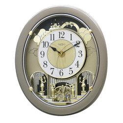 Rhythm - Golden Stars Magic Motion clock - A Rhythm masterpiece
