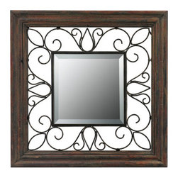 Sterling Industries - Sterling Industries 26-8652 Wood Framed Mirrors in Redwood And Iron - This Mirror from the Wood Framed collection by Sterling will enhance your home with a perfect mix of form and function. The features include a Redwood and Iron finish applied by experts. This item qualifies for free shipping!