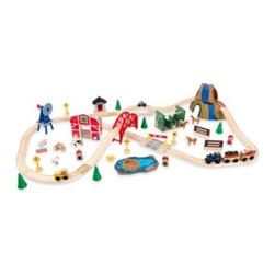 Kidkraft - KidKraft Farm Train Set - Setting up this railway gives children a glimpse of life on the farm. Brightly colored pieces and beautiful details draw children into a wondrous pretend world all their own.