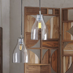 Roost Berlin Pendant Lamp - This beautiful mouth-blown glass pendant from Roost is elegant in its simplicity.
