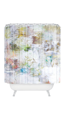DENY Designs - Kent Youngstrom Creamsicle Shower Curtain - Who says bathrooms can't be fun? To get the most bang for your buck, start with an artistic, inventive shower curtain. We've got endless options that will really make your bathroom pop. Heck, your guests may start spending a little extra time in there because of it!