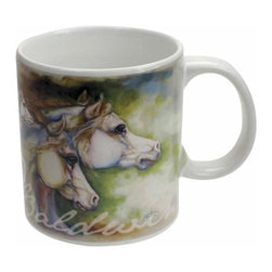"WL - 4"" White Ceramic 14 oz Coffee Mug with Gentle Spirits Stallion Horse - This gorgeous 4"" White Ceramic 14 oz Coffee Mug with Gentle Spirits Stallion Horse has the finest details and highest quality you will find anywhere! 4"" White Ceramic 14 oz Coffee Mug with Gentle Spirits Stallion Horse is truly remarkable."