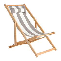 Gallant & Jones - Kehena Chair - Deck chair with Fabric Sling and Pillow