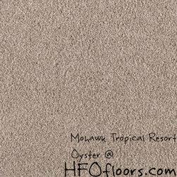 Mohawk Tropical Resort - Mohawk Tropical Resort, Oyster Trixeta PET blend 12' carpet.
