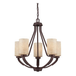 Savoy House Lighting - Savoy House Lighting 1-5430-5-117 Berkley 5 Light Chandeliers in Heritage Bronze - Berkley will add warmth to your home with its warm transitional styling.  This stylish collection has a rich Heritage Bronze finish, hammered details, and Handpainted Cream glass, making it perfect for todays casual lifestyle.