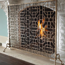 Horchow - Single-Panel Fireplace Screen - I love the chic geometric pattern of this fireplace screen from Horchow.
