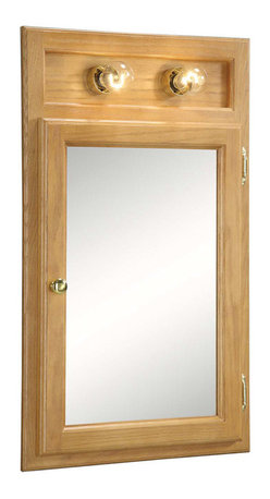 DHI-Corp - Richland Nutmeg Oak Lighted Bathroom Mirror, 18-Inches by 30-Inches - The Design House 551036 Richland Nutmeg Oak Lighted Bathroom Mirror features a nutmeg oak finish with a water resistant seal. This product has a rustic shabby chic design, meshing modern construction with vintage aesthetics. With a solid wood frame and 1-door design, this medicine cabinet measures 18-inches by 6-inches by 30-inches and is built to withstand years of repeated use. With a country living motif, this medicine cabinet graces your home with its bright finish and clean lines. This product is perfect for remodeling your bathroom and matches painted cabinets and granite counter tops. The cabinet doors glide open revealing shelves sturdy enough to hold shampoo, medicine and makeup. This mirror will not chip or stain in steamy bathrooms. Use this mirror for shaving or applying makeup in the morning. This product is CARB compliant, which means it adheres to the toughest production standards in the world for formaldehyde emissions (in wood composite paneling). The medicine cabinet also provides two overhead lights. The Design House 551036 Richland Nutmeg Oak Lighted Bathroom Mirror has a 1-year limited warranty that protects against defects in materials and workmanship. Design House offers products in multiple home decor categories including lighting, ceiling fans, hardware and plumbing products. With years of hands-on experience, Design House understands every aspect of the home decor industry, and devotes itself to providing quality products across the home decor spectrum. Providing value to their customers, Design House uses industry leading merchandising solutions and innovative programs. Design House is committed to providing high quality products for your home improvement projects.