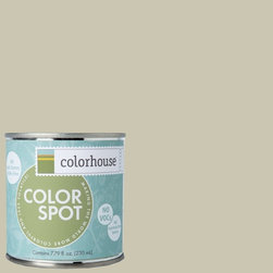 ColorSpot Eggshell Interior Paint Sample, Metal .01, 8-oz - Test color before you paint with the Colorhouse Colorspot 8-oz  paint sample. Made with real paint and in our most popular eggshell finish, Colorhouse paints are 100% acrylic with NO VOCs (volatile organic compounds), NO toxic fumes/HAPs-free, NO reproductive toxins, and NO chemical solvents. Our artist-crafted colors are designed to be easy backdrops for living.
