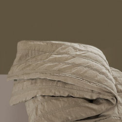 Platinum Duvet Cover - The beauty of this duvet is the fact that at first glance it's simple and understated, and after you look more closely to the fabric you notice the detail and intricacy. Plus it being pure linen is quite an added bonus.