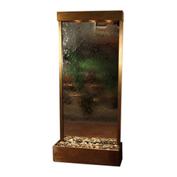 Tranquil River Floor Fountain, Rustic Copper, Mirror - The Tranquil River Floor Fountain is a centerpiece of serenity and beauty of nature that is perfect for your home or office. This fountain brightens up a room with its tranquil, flowing sounds and a feel of being one with nature.