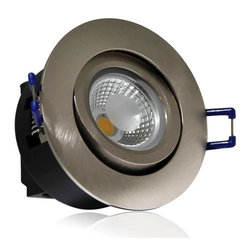 TORCHSTAR - Directional 5Watt COB LED Recessed  Ceiling Light -Silver, Warm White - 5W COB warm white recessed light at 400lm and 60 degree beam angle, 85-265V wide range operating voltage 30,000 hours long service time make it perfect for ceiling, kitchen, entryways, bathroom, living areas & bedroom external soffits (not in direct rain or water). Recessed light is also used to create shadowing of objects while adding texture to vertical surfaces.