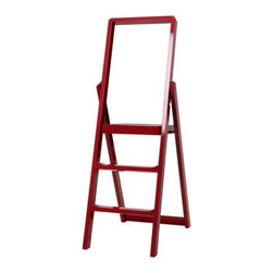 Design House Stockholm - Step Ladder by Design House Stockholm - Functional yet decorative, the Design House Stockholm Step Ladder is a standalone interior object in high gloss color. Whether changing a light bulb or reaching for that book, Step is readily available for any and all reaching needs. Complete with a peg for storing directly on the wall as a graphic addition to the contemporary space. Design House Stockholm was founded by Anders Fardig, who is passionate about finding products that fire the imagination, enhance lifestyles and turn shopping into entertainment. Under his management, Design House Stockholm has become a leading name at the forefront of Scandinavian design, and is known for its innovative products and established quality. Design House Stockholm is a publishing house for contemporary Scandinavian design, with products ranging from furniture to fashion, lighting, tabletop and limited studio editions.