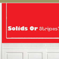 Solids or stripes Vinyl Wall Decal billiardquotes05, Yellow, 18 in. - Vinyl Wall Quotes are an awesome way to bring a room to life!