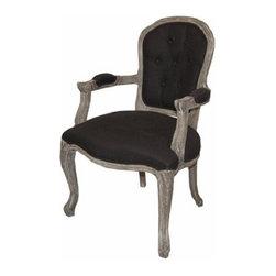 ARTeFAC - RV-8900 Classic Fabric Arm Chair, Black - RV-8900 Classic Fabric Arm Chair