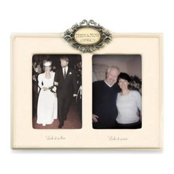 Amscan, Inc. - Then & Now Ivory Wedding Frame - Ivory-colored ceramic frame is perfect for remembering the special moments of yesterday and today.